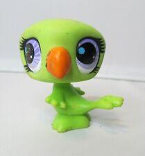 Littlest Pet Shop Green Parrot Bird Figure Dollhouse Miniature Figurine LPS