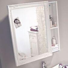 Weiße Badezimmer-Spiegel mit Regalbrett