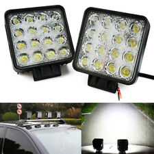 JDM ASTAR 4200LM 48W Square Waterproof Offroad White LED Work Light Spot Fog DRL