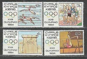 Zypern - Post 1984 Yvert 608/11 MNH Spiele Olympische Von Los Angeles
