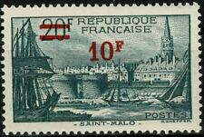 FRANCE 1941 SAINT MALO Surchargé  n° 492 neuf ★★ Luxe / MNH