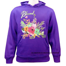 Blessed Floral Casual Graphic Pullover Hoodie