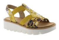 Rieker Sandalen Sandaletten Damenschuhe yellow gelb V7371-91 36 - 42 Neu11