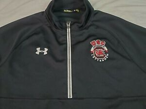 Under Armour Mens Pullover Sweatshirt Jacket USC Letterman Gamecocks NCAA XL BLK