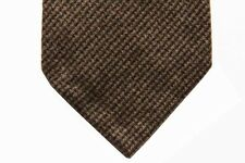 Battisti Tie Brown & charcoal mini-check, pure cashmere