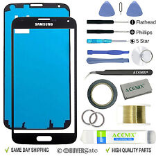 Samsung galaxy S5 noir remplacement écran verre avant lentille kit réparation + bande 2mm