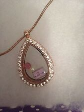 Mary Kay Make up lover Rose Gold Teardrop Charm Locket - Fit Origami Owl Charm