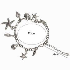 Chain Bracelet Bangle Jewelry S Metal Bracelet Starfish Shell Conch Pendant