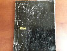 YALE Parts Manual ERCJ-ERCF 040-060