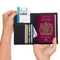 Quality Passport Holder RFID Blocking Genuine Leather Lightweight For Men &Women