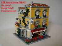Spanish Cafe LEGO Building Instruction 10182 10185 10190 10197 10211 10218