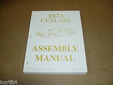 1974 74 Oldsmobile Olds Cutlass Supreme Salon car assembly manual