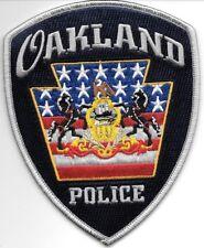 "Oakland, PA  (4"" x 5"" size) shoulder police patch (fire)"