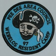 Pee Dee Area Council (SC) 1997 Webelos Reident Camp Pocket Patch  BSA