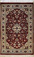 Rugstc 2.5x4 Senneh Pak Persian Red Area Rug, Hand-Knotted,Floral with Wool Pile