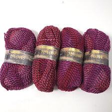 Hayfield Options Wool Blend Knitting Yarn 4 Skeins Purple Gradient Fashion DK