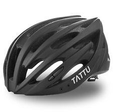 TATTU Ultralight Bike Helmet for Adult and Child with Detachable Visor, Black, L