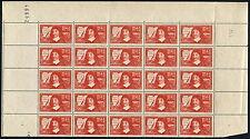France N°325 en panneau de 25 timbres Neuf ** LUXE