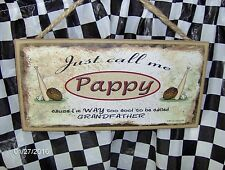 "Pappy (Baseball) 10 x 5"" Wood Sign"