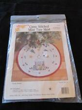 "CHRISTMAS CROSS-STITCH* TREE SKIRT KIT # 9236 ""THREE BEARS"" UNOPENED *NIP* USA"