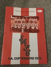 SUNDERLAND 1973 FA CUP WINNERS 30 YEAR ANNIVERSARY PROGRAMME