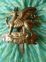 WW1 Royal East Kent (The Buffs) Regiment Cap Badge BRASS Slider ANTIQUE Original