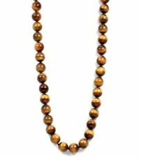 Individually knotted premium grade 10mm tiger eye bead necklace-18""