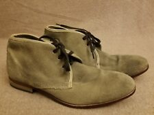 Rogue Men's Leather Suede Tan Brown Lace Up Chukka Ankle Boots Size 9 EU 42