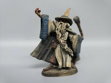Vintage Pewter Sorcerer wizard with Crystals by Artist Tom Meier 1988 0001