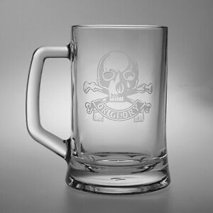Queen's Royal Lancers Heeled Glass Tankard