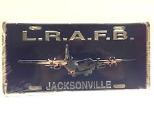 L.R.A.F.B. LITTLE ROCK AIR FORCE BASE METAL LICENSE PLATE NEW