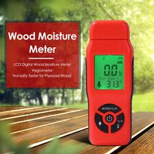 Digital Damp Moisture Meter Detector Tester Wood Timber Plaster Sensor Tool
