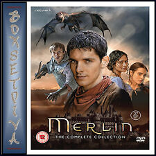 MERLIN - THE COMPLETE COLLECTION - SEASONS 1 2 3 4 & 5 *BRAND NEW DVD BOXSET ***