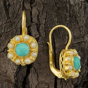 Mediterranean Turquoise and Pearl Earrings: Museum of Jewelry