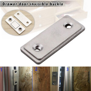 2Pcs Door Catch Latch Magnetic Ultra Thin for Furniture Cabinet Cupboard Glass