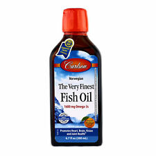 Carlson The Very Finest Fish Oil Liquid Omega-3 Orange 200 ml FRESH