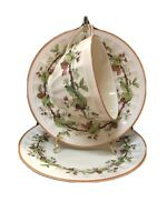 Crown Ducal 3566 Batter Plate Tea Cup & Saucer Early English Thorn Vine Brown