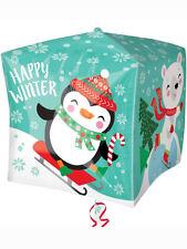 """Christmas Party Decoration 15"""" Penguin Design Cubez Foil Balloon"""