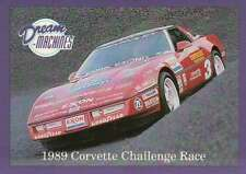 1989 Corvette Challenge Race, Dream Machines Cars, Trading Card - Not Postcard