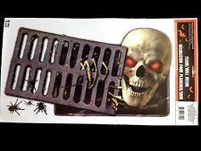 Gothic Horror Sewer Demon Skeleton Skull Floor Wall Sticker Teen Room Decoration