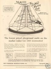 Antique 1920s EVERWEAR Whirling Climb MERRY GO ROUND Playground Equipment AD