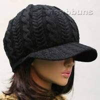 NEW uniSex CHIC VISOR BEANIE Knit skull Cap Hat kk45
