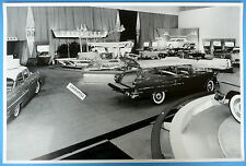 """12 By 18"""" Black & White Picture 1955 Chevrolet Motorama New Model Display"""
