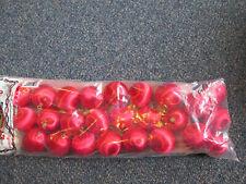 24 Christmas Balls Red Threaded Satin Ornaments NIP