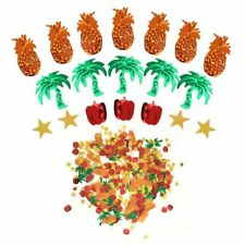 Decoration Cocnut Pineapple Pepper Favor Tree Glitter Colorful Confetti Party