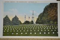 C 1925 National Cemetery - The Unknown Dead - Gettysburg Pennsylvania Postcard
