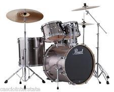 Pearl EXX725SC21 Export 5-Piece Drum Kit Set, Smokey Chrome