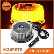 240 Led Amber Snow Plow Tow Truck Emergency Strobe Light Flash Warning Round Us