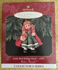 1997 HALLMARK LITTLE RED RIDING HOOD 1991 MADAME ALEXANDER CHRISTMAS ORNAMENT