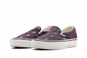 Vans Vault x Wacko Maria OG Classic Slip-On Purple/Records VN0A45JK596 Size 8-12